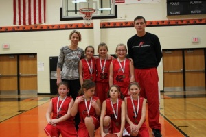 4th grade girls 3rd place
